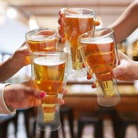 Чаши за Бира - Обърната Бутилка - Наздраве