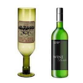 Чаша за Вино - Обърната Бутилка
