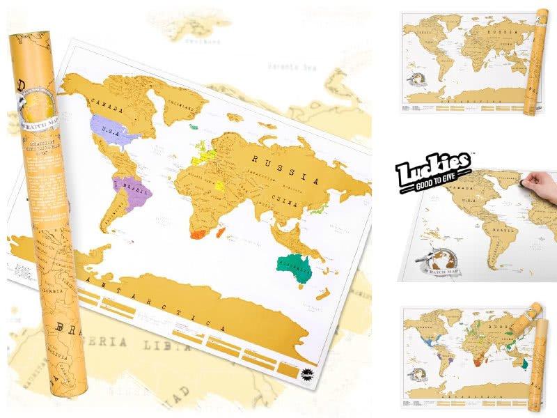 Оригинална Скреч Карта Свят - Luckies of London