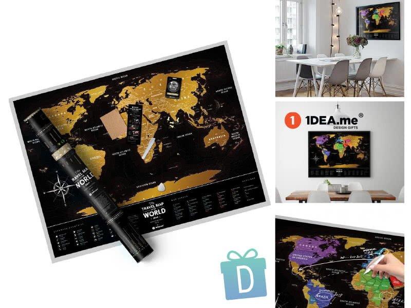 Луксозна Скреч Карта Deluxe - 1dea.me