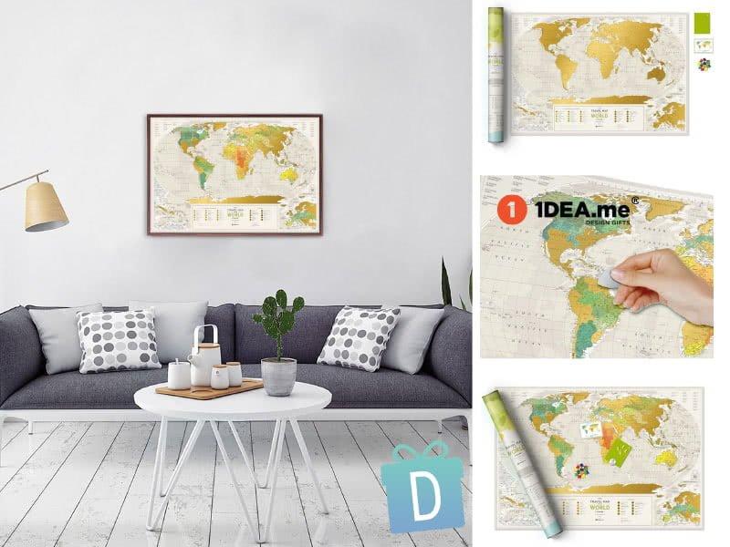 Световна Скреч Карта География - 1dea.me