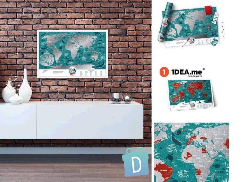 "Скреч Карта на Света ""Океани"" - 1dea.me"