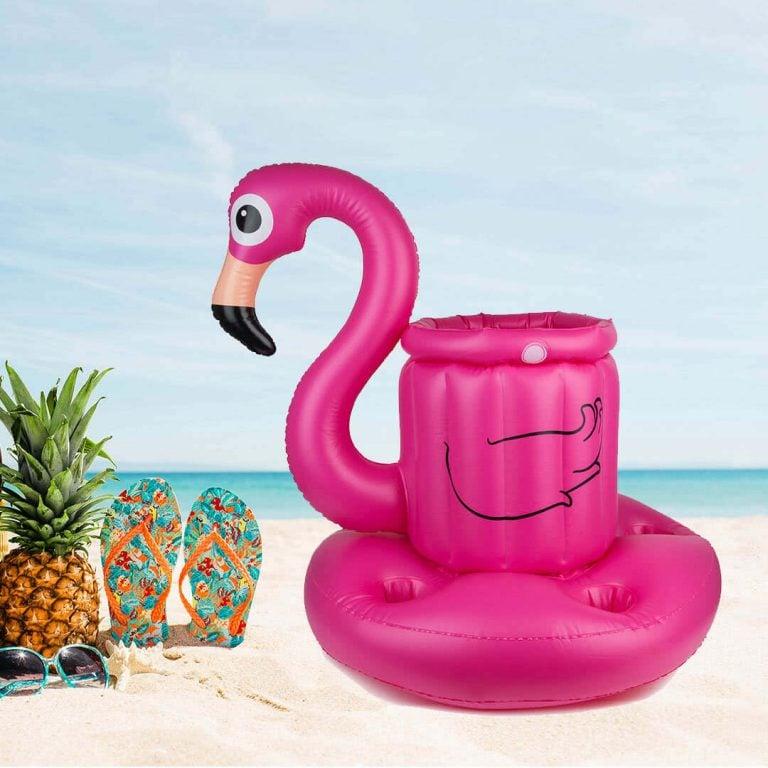 Надуваем Воден Бар за Басейн Фламинго на Плажа