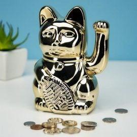 Касичка Късметлийска Котка със Стотинки