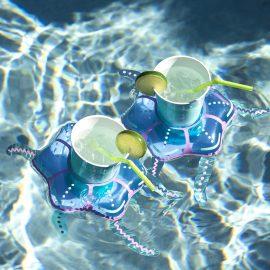 Надуваеми Пояси за Напитки Медузи във Водата