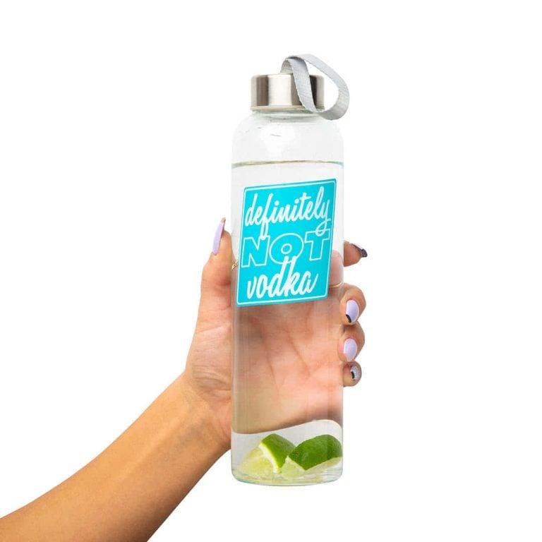 Стъклена Бутилка за Вода - Не е Водка