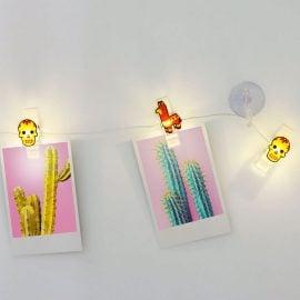 Светещ Гирлянд с LED Крушки и Щипки - Пинята
