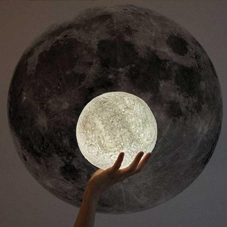 Нощна Лампа - Луна с Дистанционно