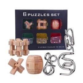 Комплект 3D Пъзели от Дърво и Метал