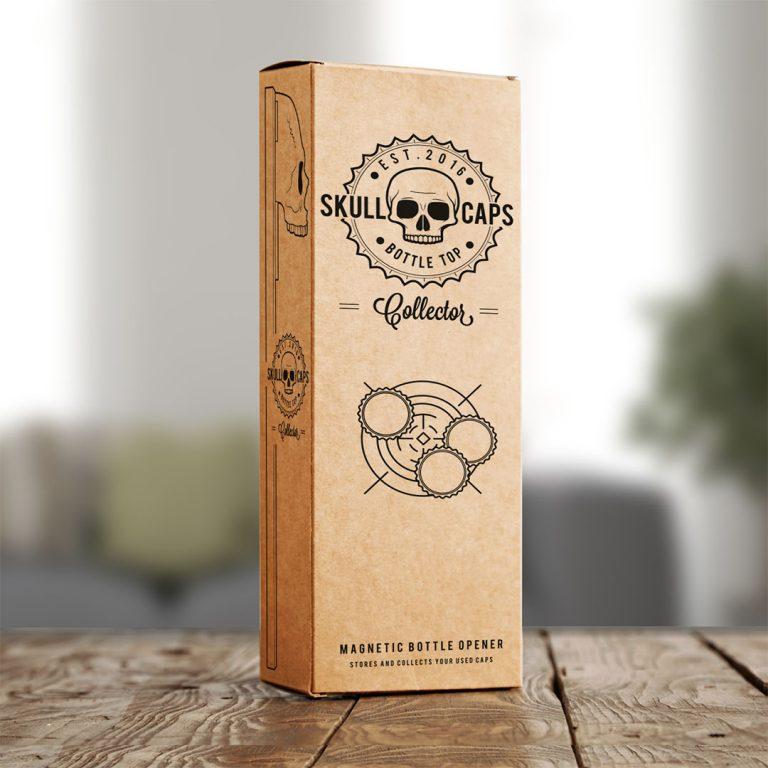 Магнитна Отварачка за Хладилник - Череп в Кутия