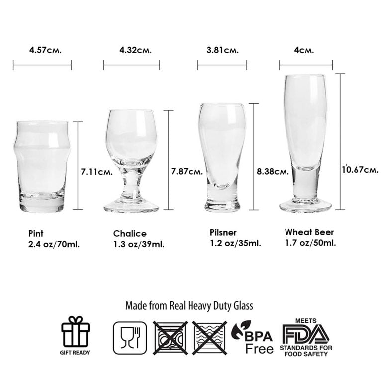 Размер на Мини Чашките за Бира