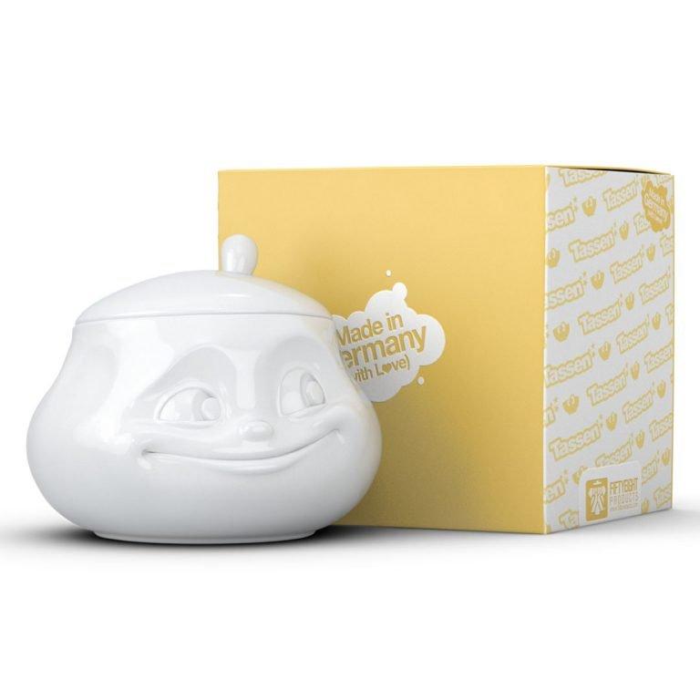 Порцеланова Захарница с Изражение в Кутия за Подарък