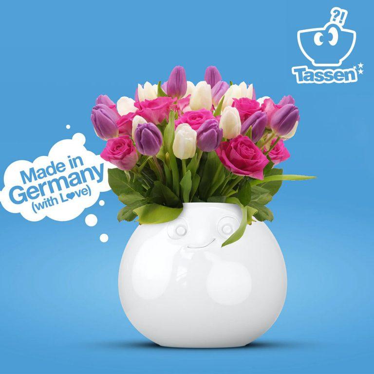 Ваза за Цветя с Изражение - Amused