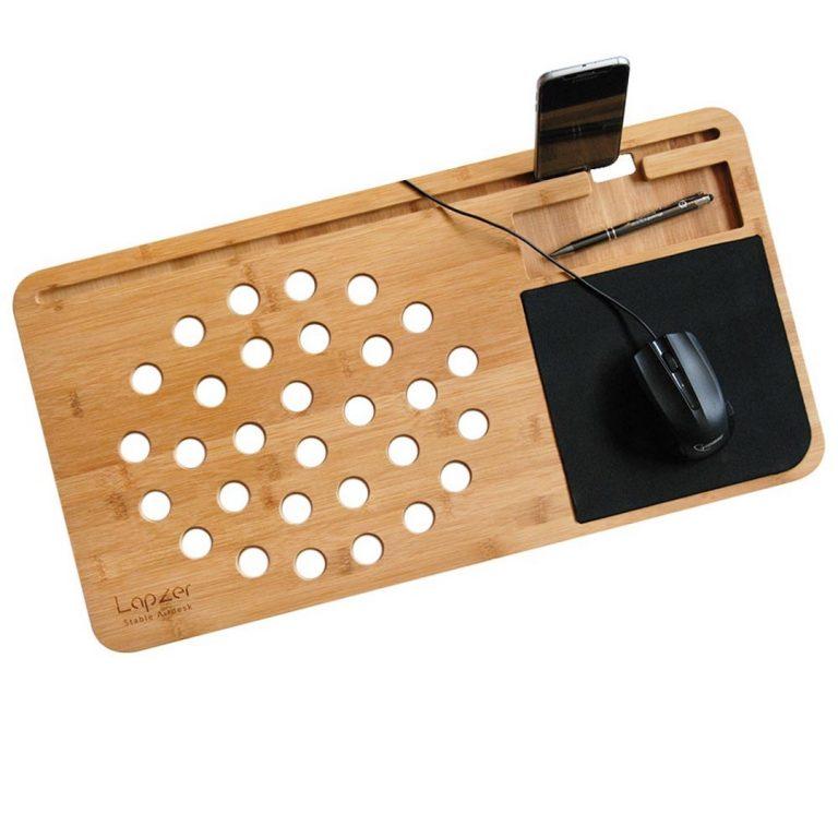 Дървена Поставка за Лаптоп и Телефон